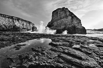 Ocean Vista Photograph - Shark Fin Cove Reflection by Jamie Pham