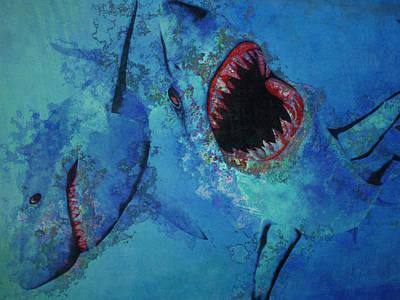 Frenzy Photograph - Shark Frenzy Nightmare by Lori Seaman