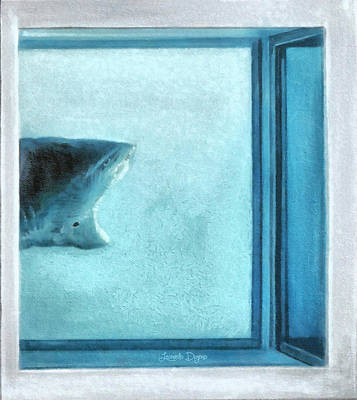 Research Painting - Shark In Magic Cubes - 3 Of 3 by Leonardo Digenio