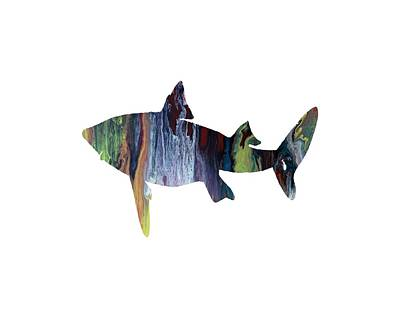 Water Themed Painting - Shark by Mordax Furittus