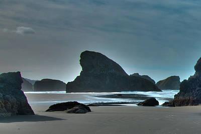 Photograph - Shark Rock Oregon Coast by Norman Hall