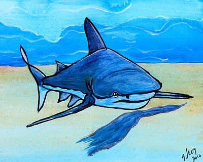 Shark Painting - Shark by W Gilroy