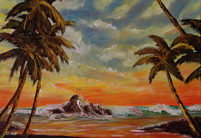 Sharks Cove North Shore Oahu #394 Art Print by Donald k Hall