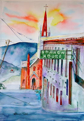 Art Print featuring the painting Sharon House by Sharon Mick