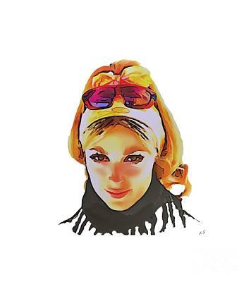Drawing - Sharon Marie Tate by Sergey Lukashin