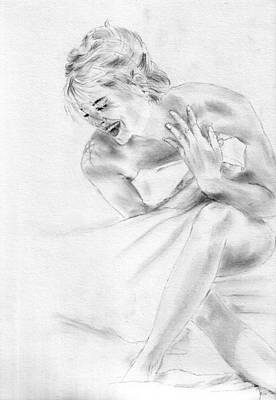 Sharon Stone Art Print by Jessica Rose