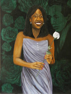 Sharon's Rose With Langston Art Print by Angelo Thomas