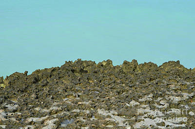 Photograph - Sharp Lava Rock Along The Ocean's Edge by DejaVu Designs