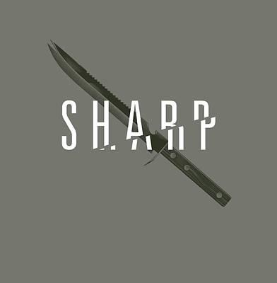 Digital Art - Sharp by Mike Lopez