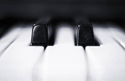 Keyboards Photograph - Sharp Or Flat by Scott Norris