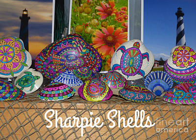 Photograph - Sharpie Shells Still Life by Jean Wright