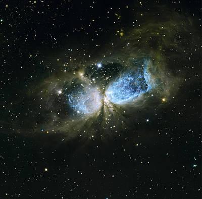 Nebula Photograph - sharpless 2-106 nebula Infrared view by Artistic Panda