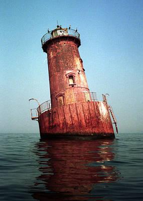 Sharps Island Lighthouse Chesapeake Bay Maryland Art Print by Wayne Higgs