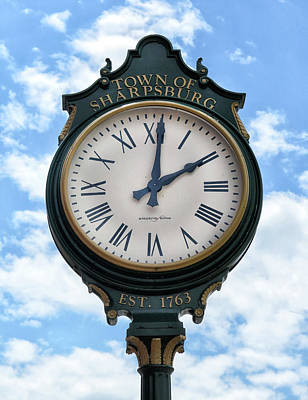 Photograph - Sharpsburg Clock by Dave Mills