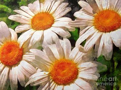 Digital Art - Shasta Daisies 2015 by Kathryn Strick