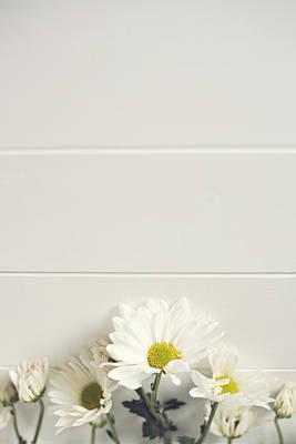 Photograph - Shasta Daisies Cropped 1 by Di Kerpan