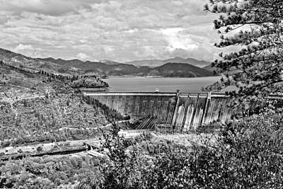 Photograph - Shasta Dam B And W by Joyce Dickens