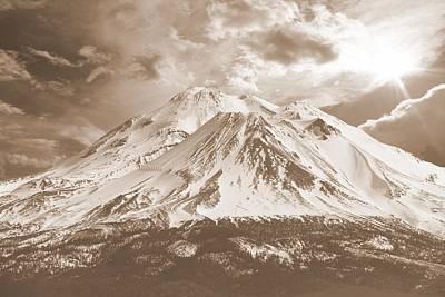 Photograph - Shasta Mt by Athala Carole Bruckner