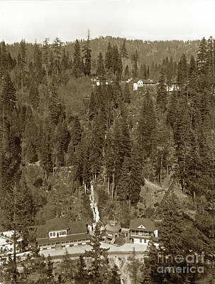 Photograph - Shasta Springs Station From Inspiration Point, On The Sacramento River by California Views Mr Pat Hathaway Archives