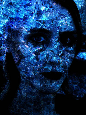 Crystalline Mixed Media - Shatter Me by Jessica-faye Watters