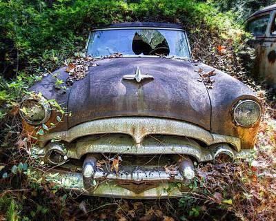 Photograph - Shattered 1952 Packard by Alan Raasch