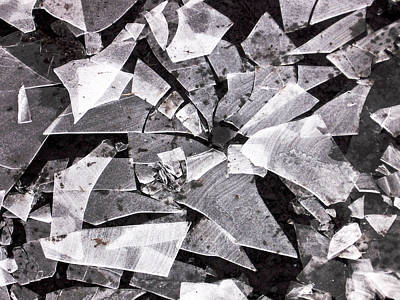 Photograph - Shattered - Black And White by Lori Kingston