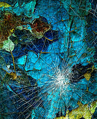 Yellow Lab Digital Art - Shattered Glass by Diana Mary Sharpton
