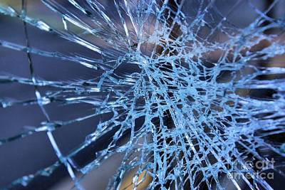 Photograph - Shattered Glass In Color by John S