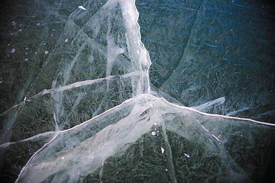 Art Print featuring the photograph Shattered Ice by Alex Blondeau
