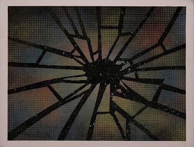 Reclaimed Glass Painting - Shattered In Space by Bryan Jorgensen