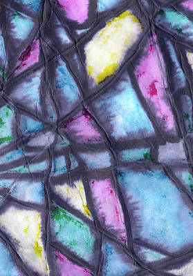 Mixed Media - Shattered Life In Pastel by Wayne Potrafka