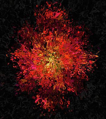 Mixed Media - Shattered Luminance Abstract by Georgiana Romanovna