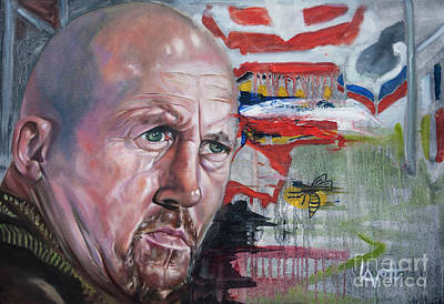 Painting - Shaun Edwards by James Lavott