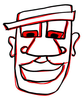 Character Portraits Drawing - Shaun by Jera Sky