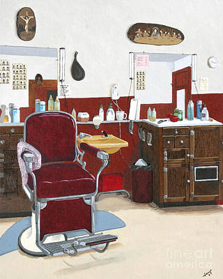 Nostalgic Painting - Shave And A Haircut by Jennifer  Donald