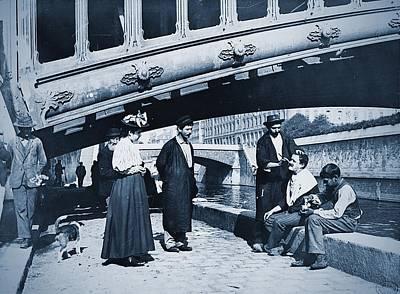 Travel - Shaving at the Seine, Paris 1914 by Vintage Printery