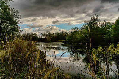 Photograph - Shaw Nature Reserve Approaching Storm Photo Painting 7r2_dsc2646_10242017 by Greg Kluempers