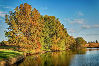 Photograph - Shaw Nature Reserve Pinetum Lake 7r2_dsc2617_10242017 by Greg Kluempers