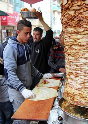 Photograph - Shawarma by Munir Alawi