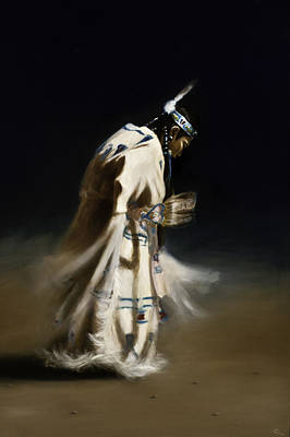 Pow Wow Painting - Shawl Dancer by Cynthia Garcia