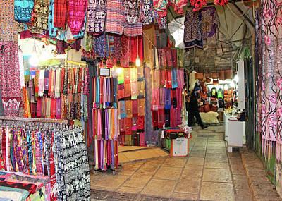 Photograph - Shawl Store by Munir Alawi