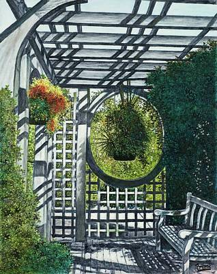 Art Print featuring the painting Shaw's Garden Place Of Solitude by Michael Frank