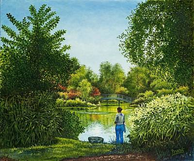 Art Print featuring the painting Shaw's Garden's Admirer by Michael Frank