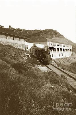 Photograph - Shay Engine No. 3  Summit Of Mount Tamalpais Circa 1910 by California Views Mr Pat Hathaway Archives