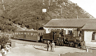 Photograph - Shay Number 8. In The  Summit Yard At Tavern On Mt. Tamalpais Ci by California Views Mr Pat Hathaway Archives