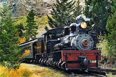 Steam Locomotive Photograph - Shay On The Georgetown Loop by Ken Smith