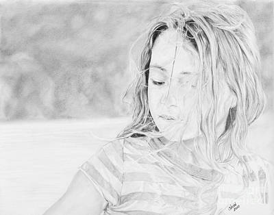 Drawing - Shayla by Shevin Childers