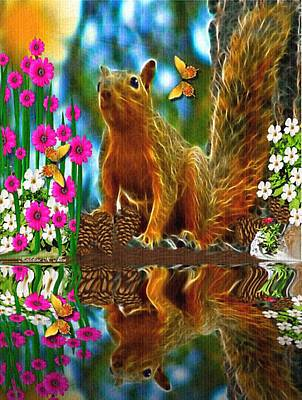 Shaylene Squirrel Print by Madeline  Allen - SmudgeArt