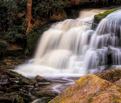 Mixed Media - Shays Run Waterfall West Virginia by Dan Sproul