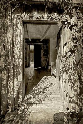 Shdaows Of The Past - Sepia Art Print